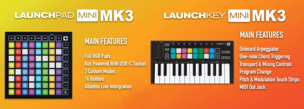 Novation MK3 Launch pad & key