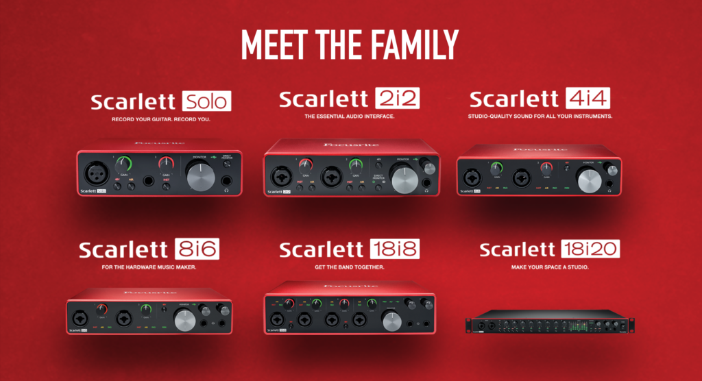 Focusrite Meet the family